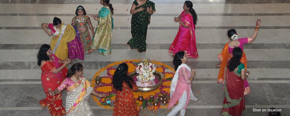A serene Ganesha temple rises at New Cuffe Parade