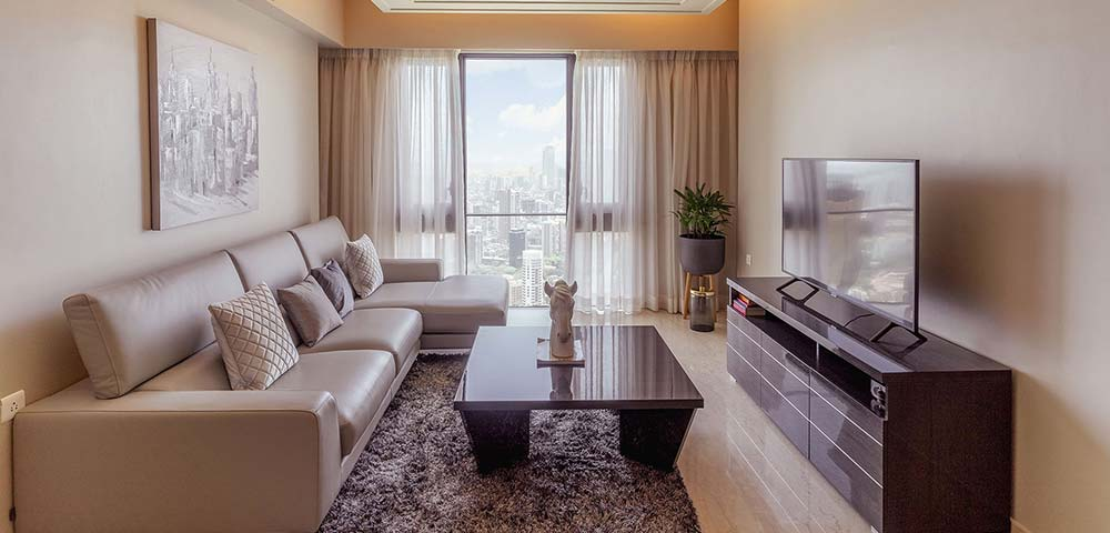 Lodha Allura Ready Residence –Living Room