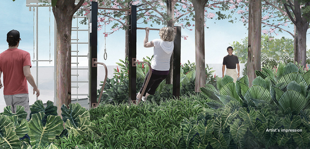 Get your daily dose of exercise and sunshine - at our outdoor gym