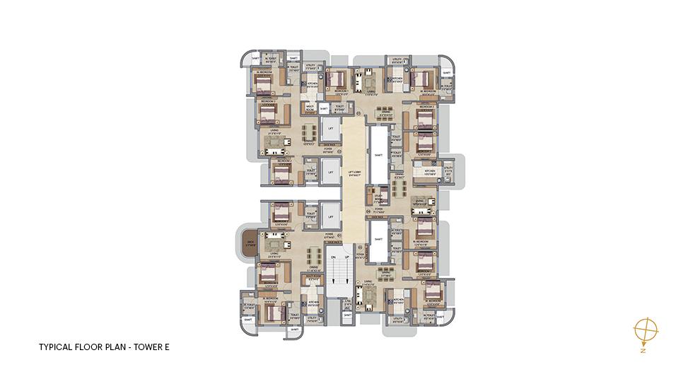 Lodha Bel Air Floor Unit Plan For 2 Bhk And 3 Bhk In Patel Estate Road