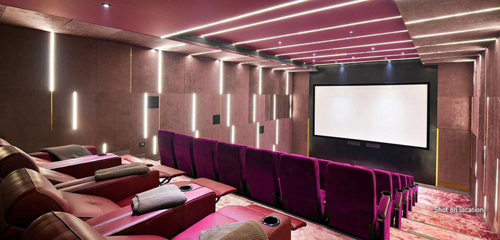 Private theatre to savor the finest in world cinema