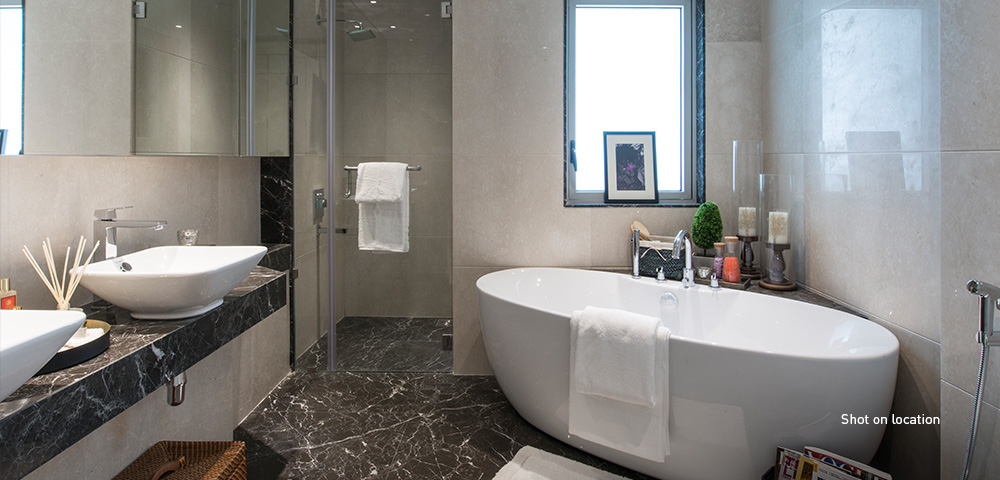 4 fixture master bathroom in select residences