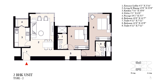 2 Bed Residence Type 2