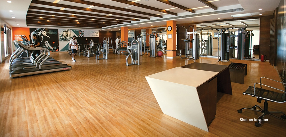 Well-equipped gym and fitness centre