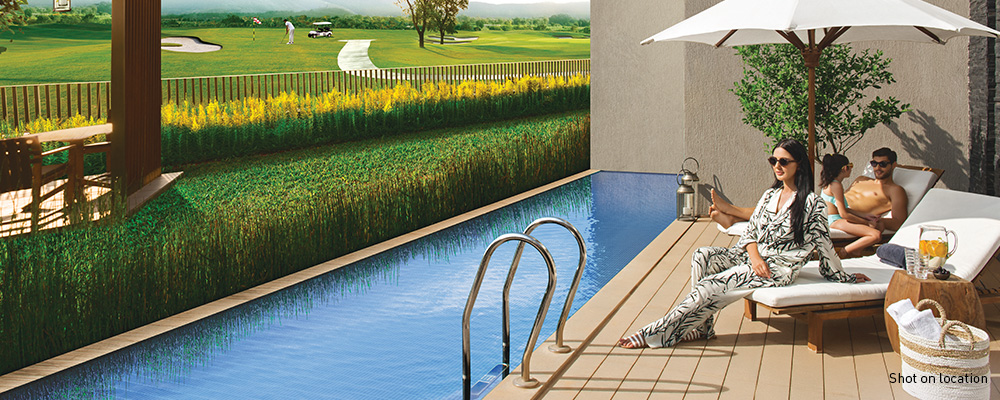 Private lawns and terraces offering privacy