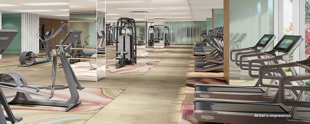 24x7 exclusive gymnasium to help you stay fit