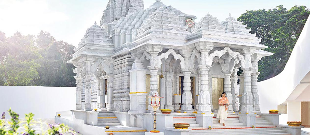 The Shikarband Jain Temple: the estate's spiritual centre