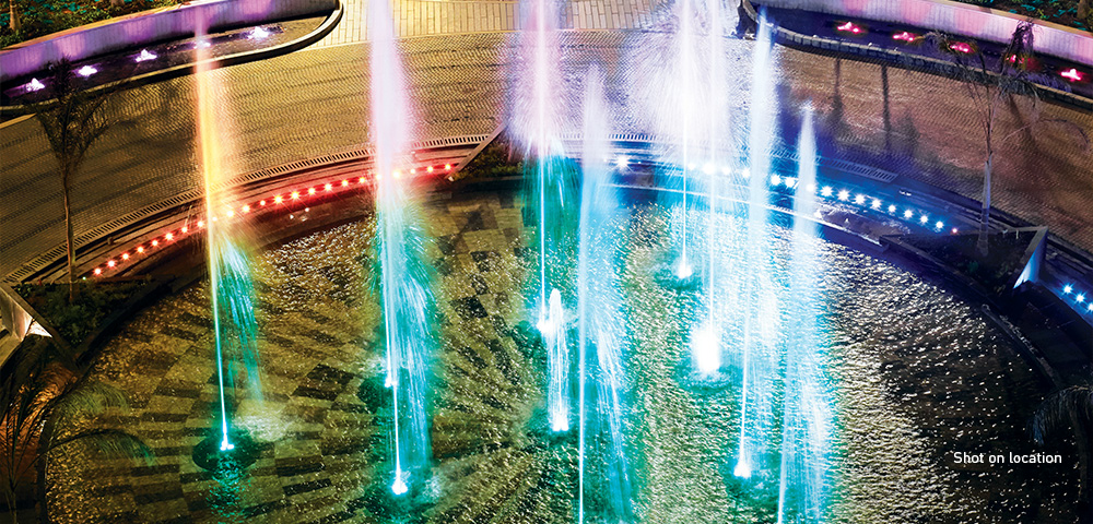 Mumbai's largest private dancing fountains