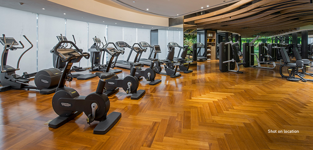 The fitness centre managed by Six Senses